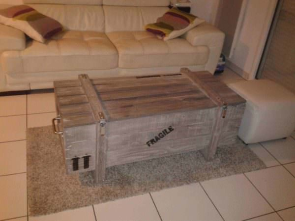Pallet Trunk And Coffee Table Pallet Coffee Tables