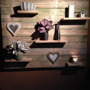 Pallet Wall Decoration with Shelves