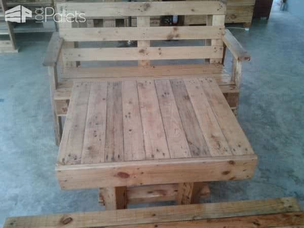 Pallet Wood Benches and Table Pallet Benches, Pallet Chairs & StoolsPallet Desks & Pallet Tables