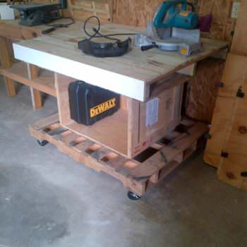 Pallet Work Shop Tables