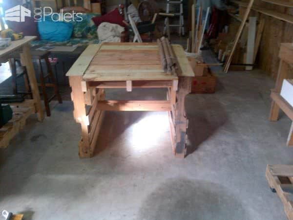Pallet Work Shop Tables Pallet Desks & Pallet Tables