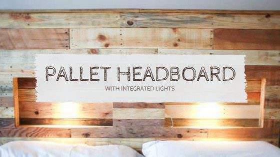 Pallet Headboard with Integrated Lights • 1001 Pallets