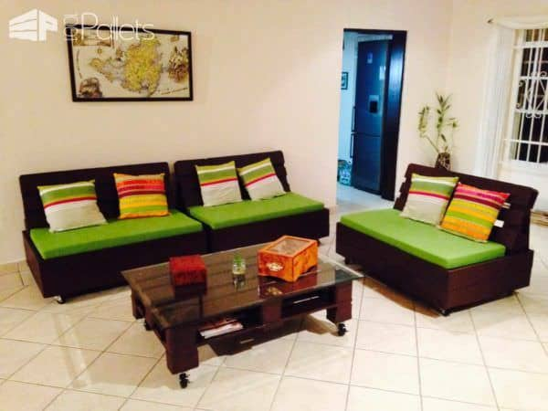 Pallets Sofa and Coffee Table Pallet Coffee Tables