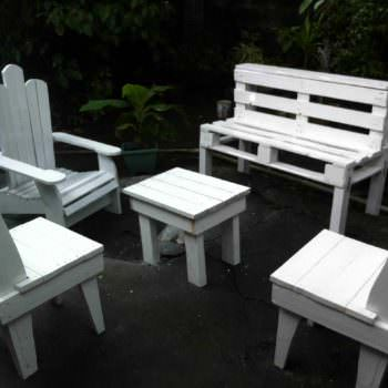 Salon De Jardin / Pallets Garden Set