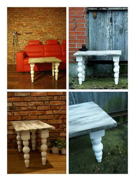 Shabby Chic Table Top From Recycled Pallet Wood