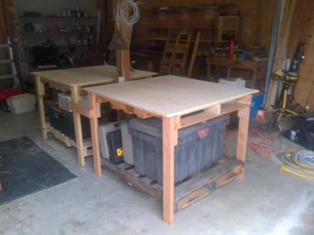 Shop Tables From Recycled Pallets