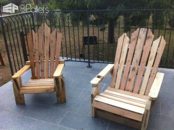 Pallet Adirondack Chairs Pallet Benches, Pallet Chairs & Pallet Stools Pallets in The Garden