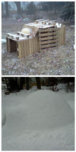Before/After: Pallet Igloo Lounges & Garden Sets