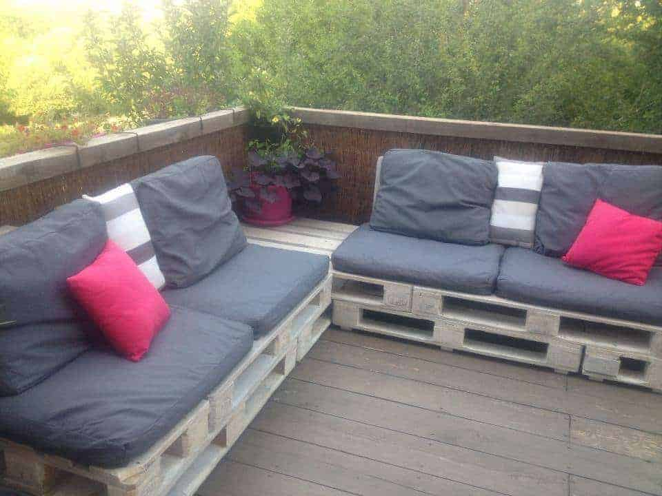 canap de terrasse pallet terrace sofa 1001 pallets. Black Bedroom Furniture Sets. Home Design Ideas