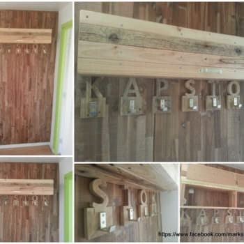 Coat Rack Made from Upcycled Pallet Wood