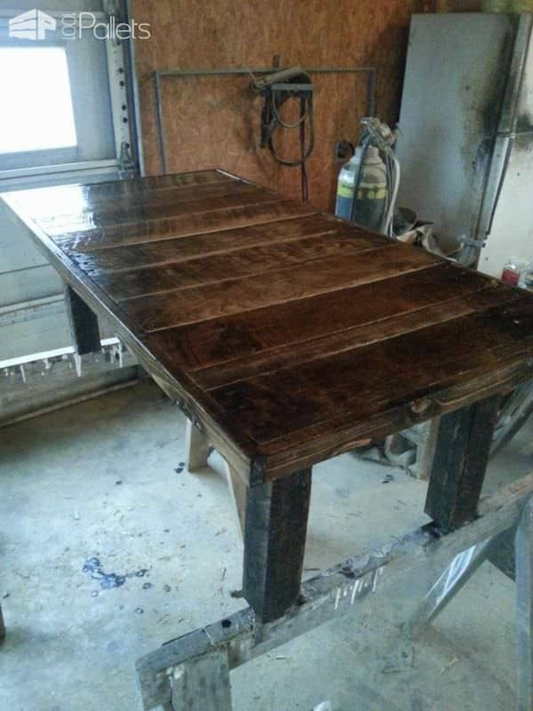 Different Pallet Tables Pallet Desks & Pallet Tables