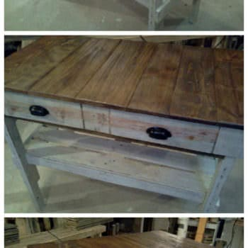 Distressed Pallet 'kitchen Island'