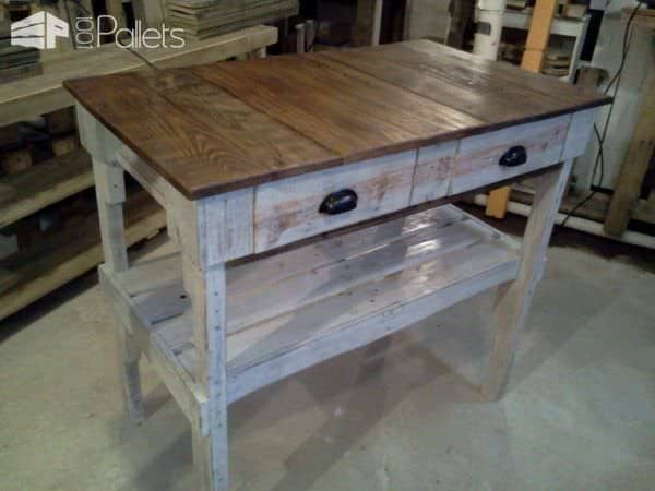 Distressed Pallet 'kitchen Island' • 1001 Pallets