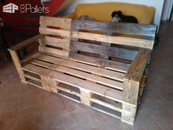 Divano in Pallets / Pallet Sofa • Pallet Ideas • 1001 Pallets