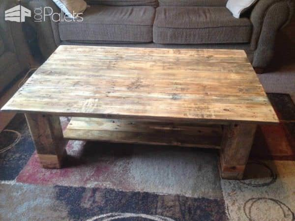 From Pallet To Coffee Table! Pallet Coffee Tables