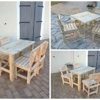 Garden Pallet Table & Chairs