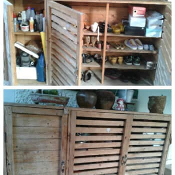 Make a Shoes & Tools Cabinet from Recycled Pallets