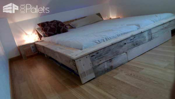 Fabulous Pallet Bed Frame DIY Pallet Bed Headboard u Frame