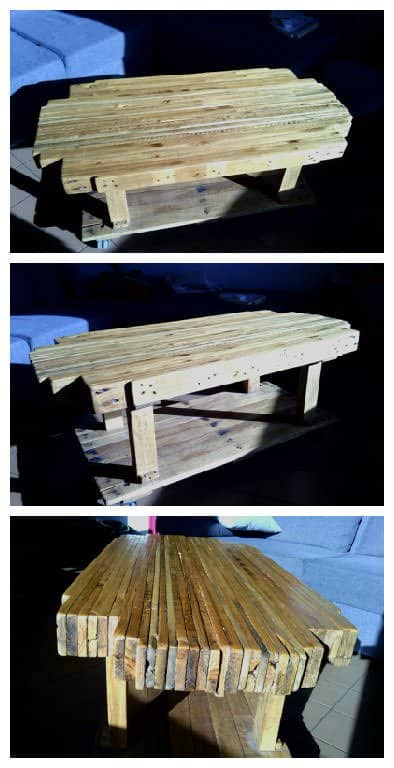 Pallet Butchers Block Coffee Table 1001 Pallets