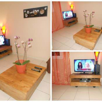 Pallet Coffee Table & TV Stand