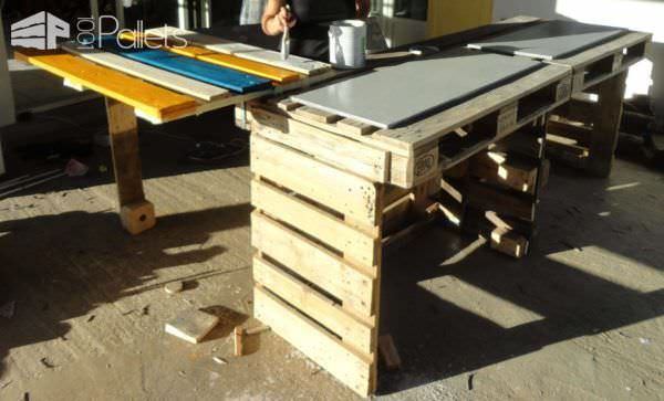 Pallet Kitchen Countertop Pallet Bars
