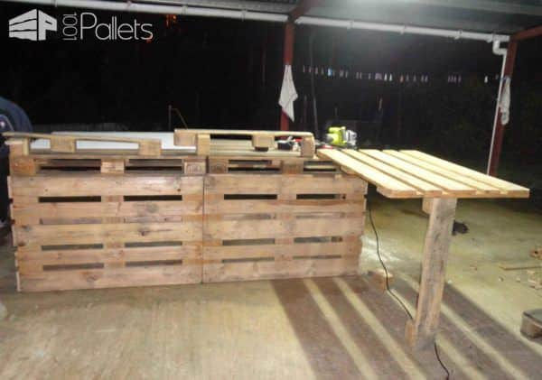 Pallet Kitchen Countertop DIY Pallet Bars