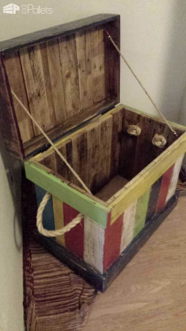 Reclaimed Pallet Into Kids Toy Box Pallet Boxes & Chests