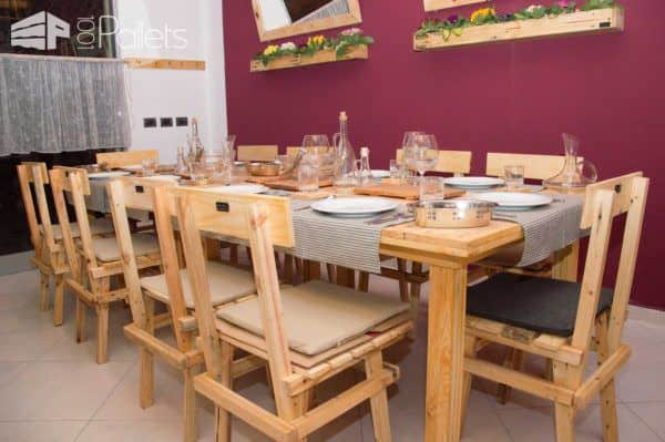 Restaurant Made From Pallets and Other Reclaimed Wood - Design by Pana Pallet Store, Bar & Restaurant Decorations