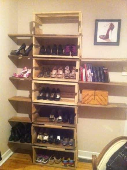 Shoes Shelf from Pallets