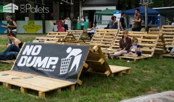 Sliding Waves Lounges & Garden Sets Pallet Benches, Pallet Chairs & Stools