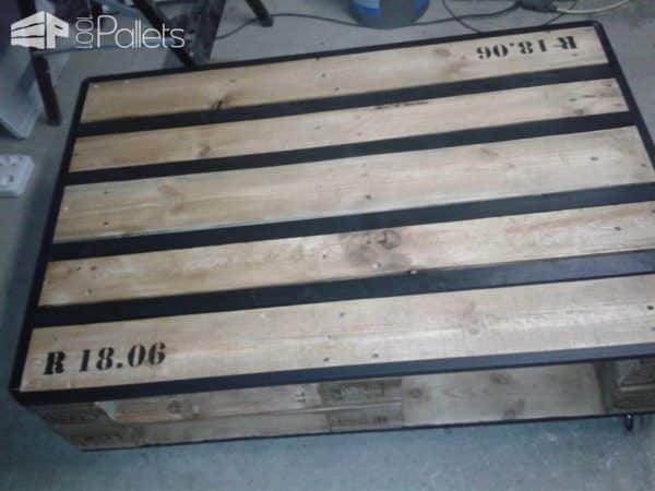 Table à Rangement Style Industriel / Industrial Style Pallet Storage Table Pallet Coffee Tables