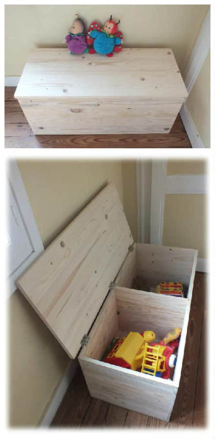 Fun pallet crafts for kids page 9 of 13 diy wood - Plan coffre a jouet en bois ...