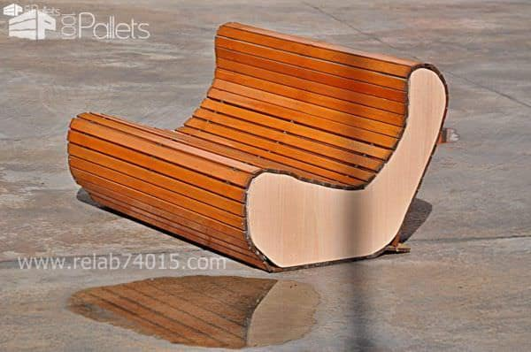 Wooden Shutter Flexa Sofa Pallet Benches, Pallet Chairs & Stools
