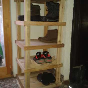 Pallet Entrance Shoe Rack