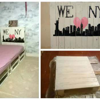 Children Pallet Bed & Headboard