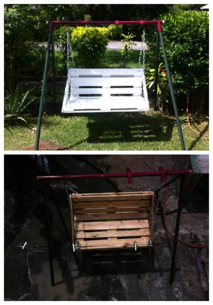 Children Swing Transformed With Repurposed Pallet