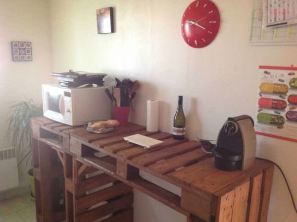 Comptoir De Cuisine / Pallet Kitchen Counter DIY Pallet BarsPallet Desks & Pallet Tables