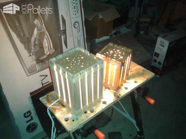 Homemade Lamps With Reclaimed Pallets Pallet Lamps, Pallet Lights & Pallet Lighting