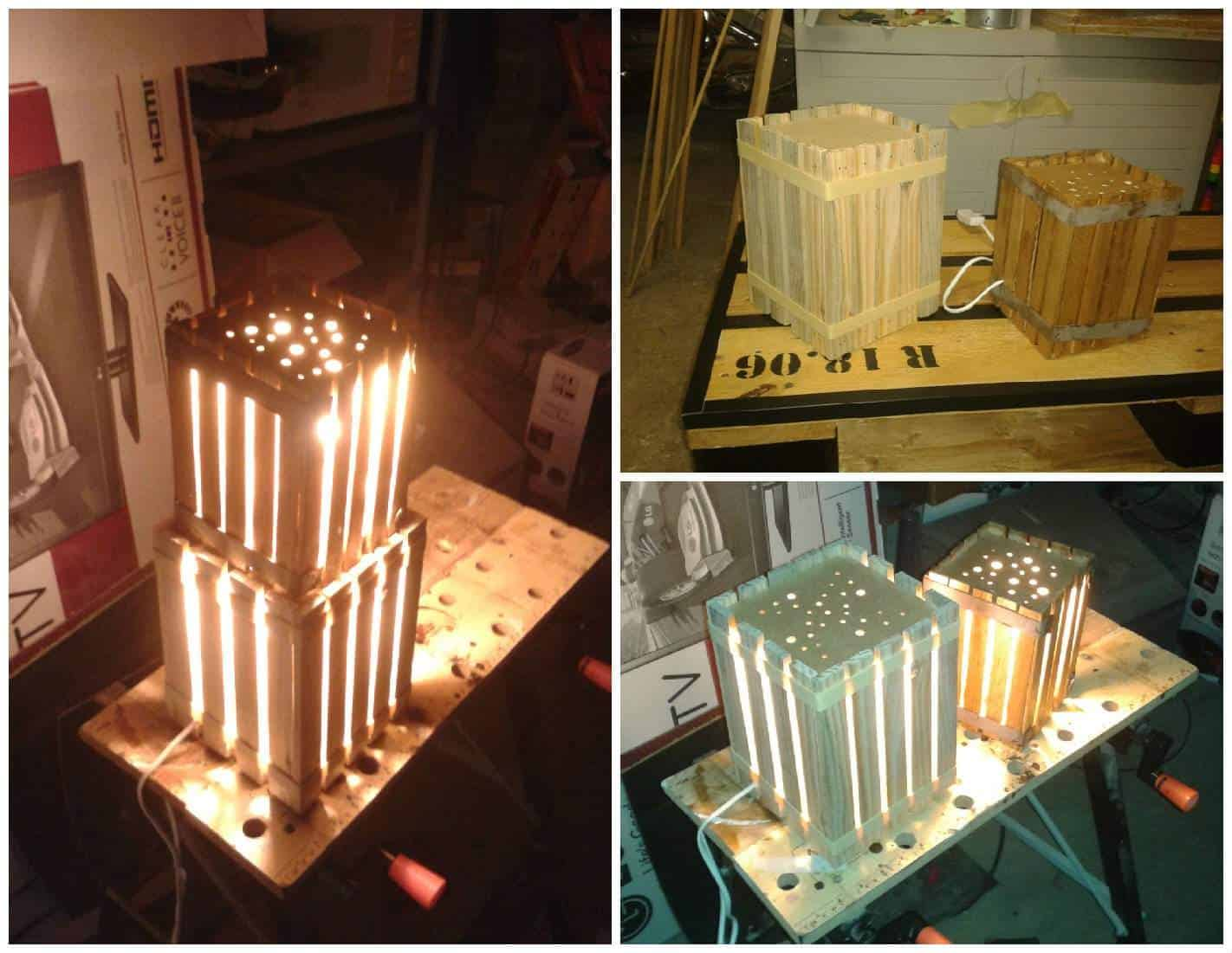 homemade lamps with reclaimed pallets pallet ideas 1001 pallets