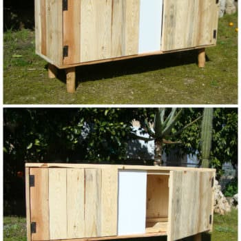 Naturino Pallet Cabinet From Pallet & Olive Branches