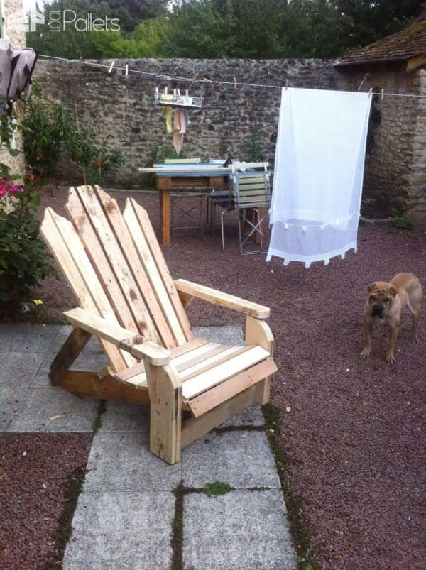 Pallet Adirondack Chairs Pallet Benches, Pallet Chairs & Stools
