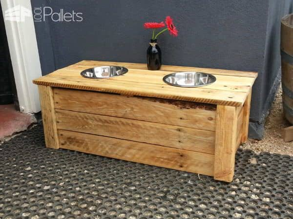 Pallet Doggy Dining Table Animal Pallet Houses & Pallet Supplies