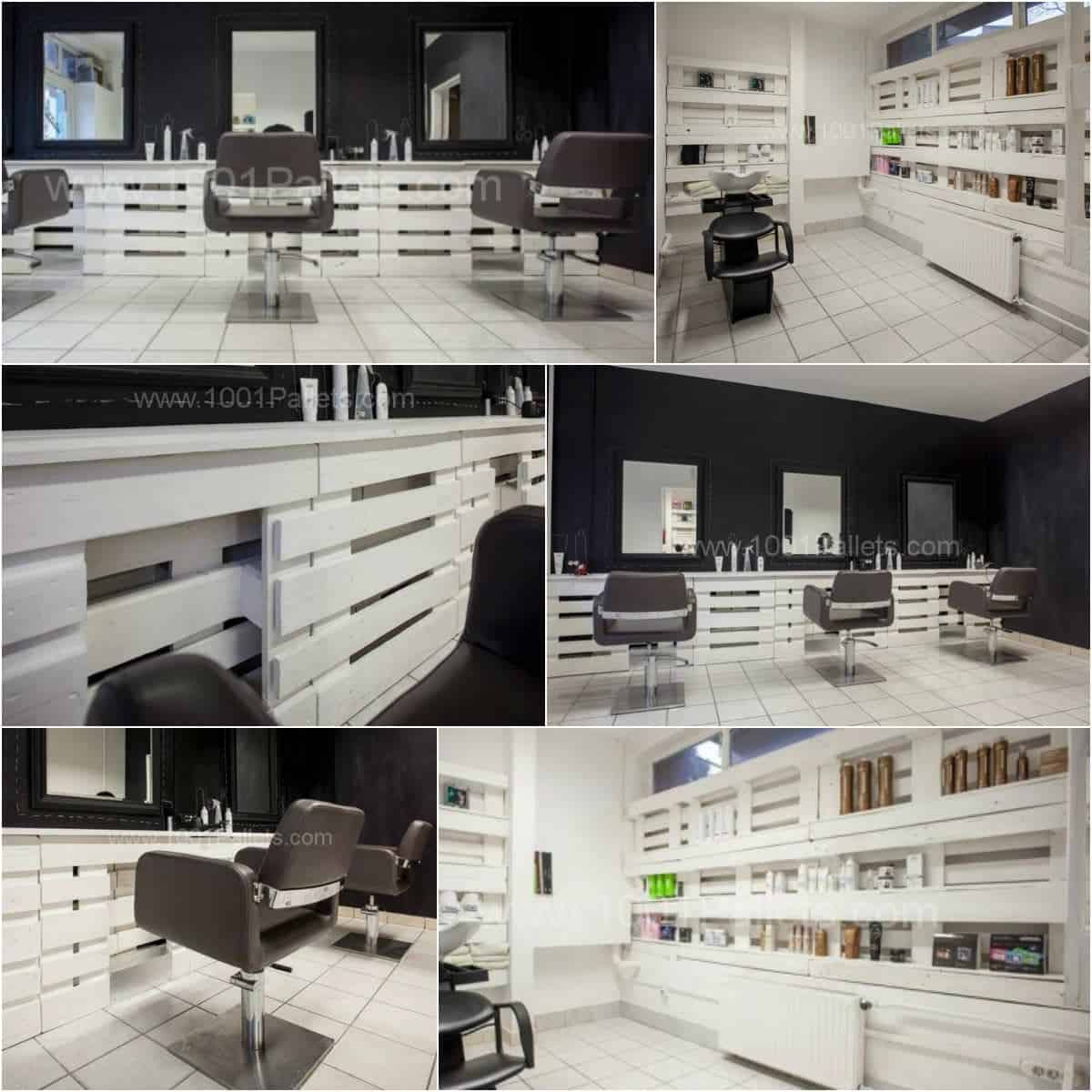 Pallet hair and nails salon in hungary 1001 pallets for Mueble salon palets