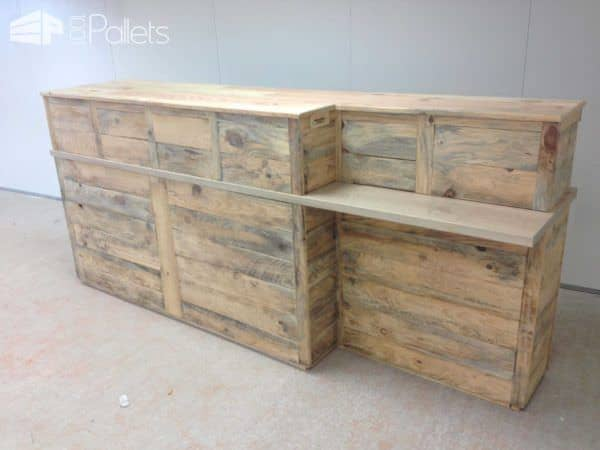 Pallet Reception Counter DIY Pallet Bars