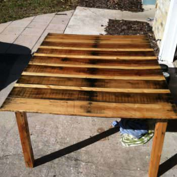 Pallet Table With Natural Stain