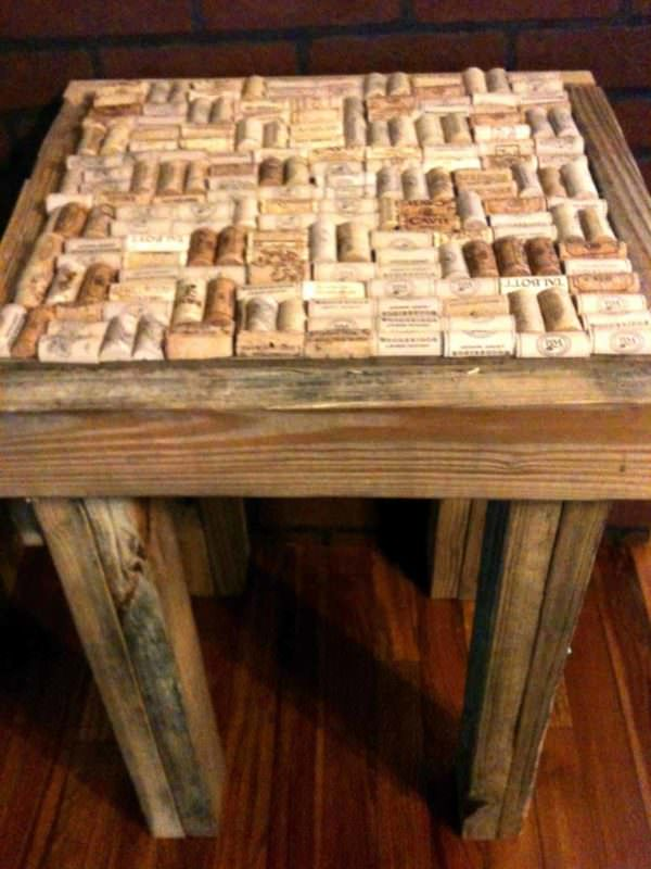 Pallet Wood Cork End Table Pallet Desks & Pallet Tables