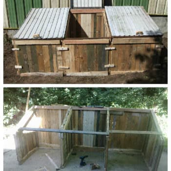 Pallets Compost Bin for Garden Dry Toilets