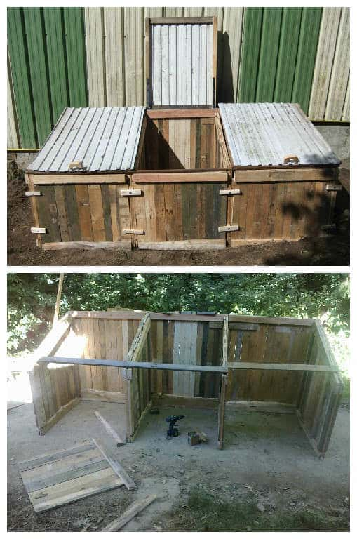 Pallets Compost Bin For Garden Dry Toilets 1001 Pallets