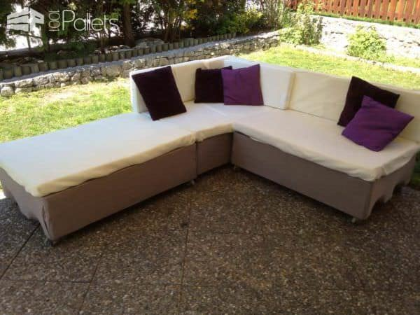pallets garden couch canap de jardin en palettes euro. Black Bedroom Furniture Sets. Home Design Ideas