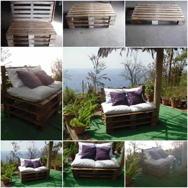 Pallets Sofa Lounges & Garden Sets Pallet Sofas